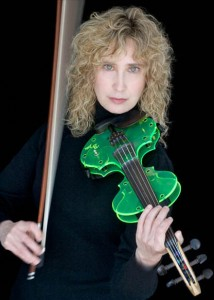 The neon green electric violin